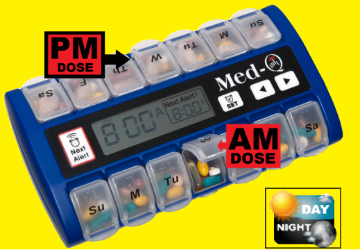 Medication alarm clock