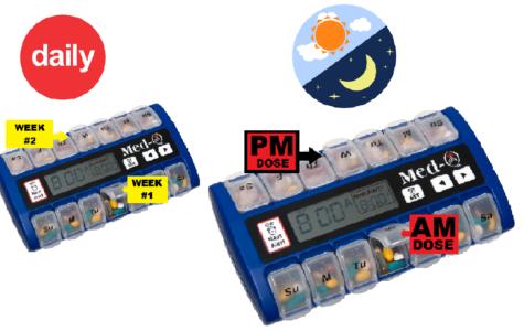 medication pill box with alarm medication pill box with alarm