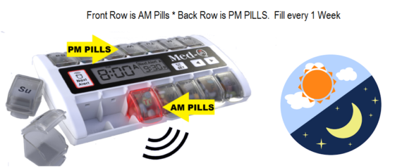 automatic pill dispenser for Alzheimer's
