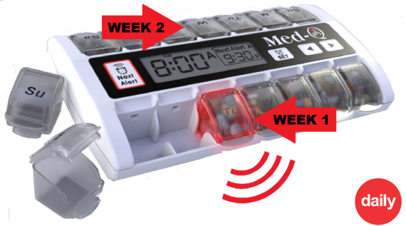 smart pill box with alarm