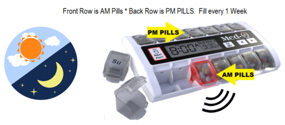 Pill Box for Alzheimer's