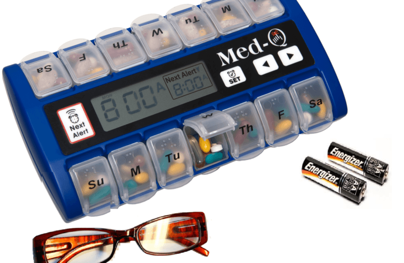 Pill Box with Alarms for alzheimer's