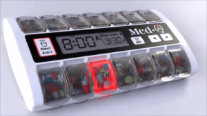smart pill dispensers with alarm
