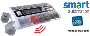 Electronic pill box dispenser