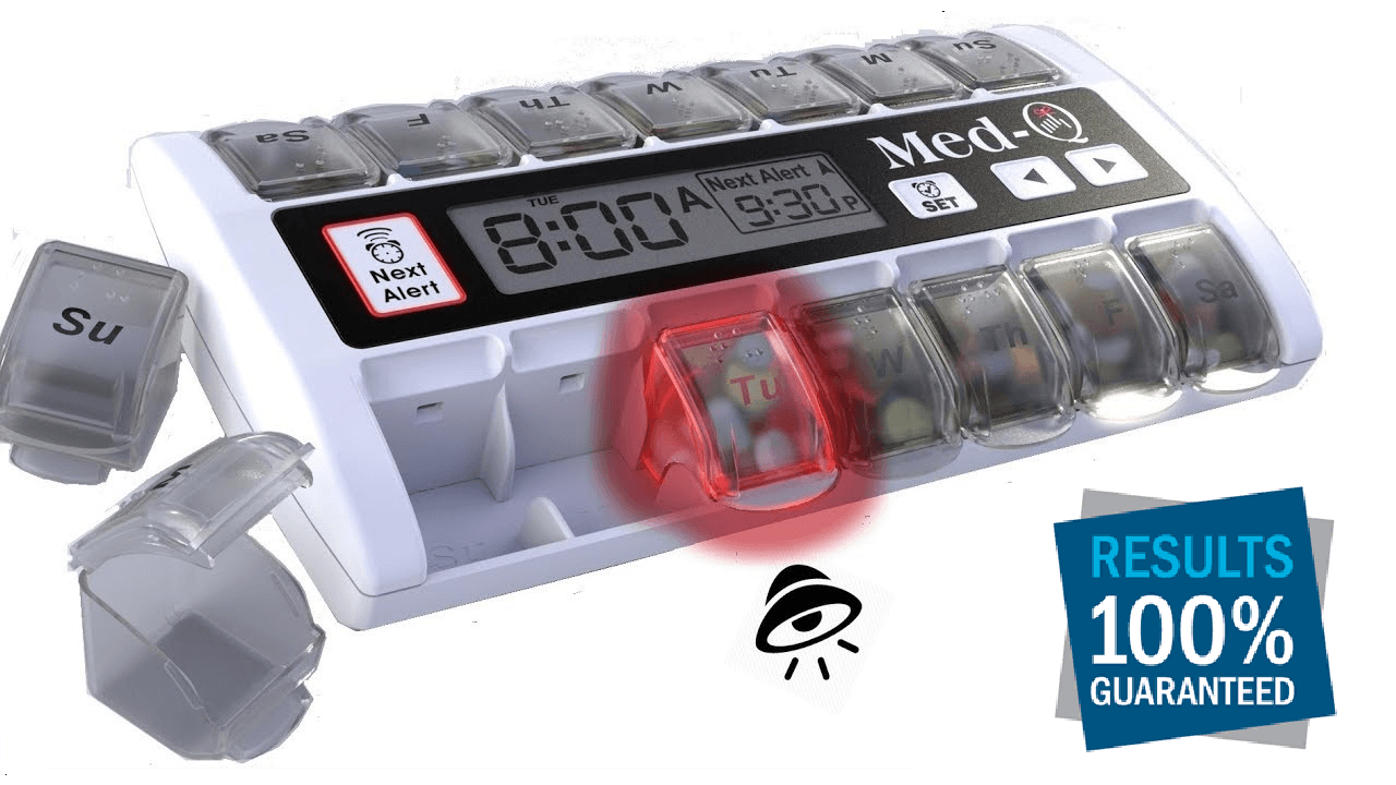 MED-Q Programmable PillBox Alarms