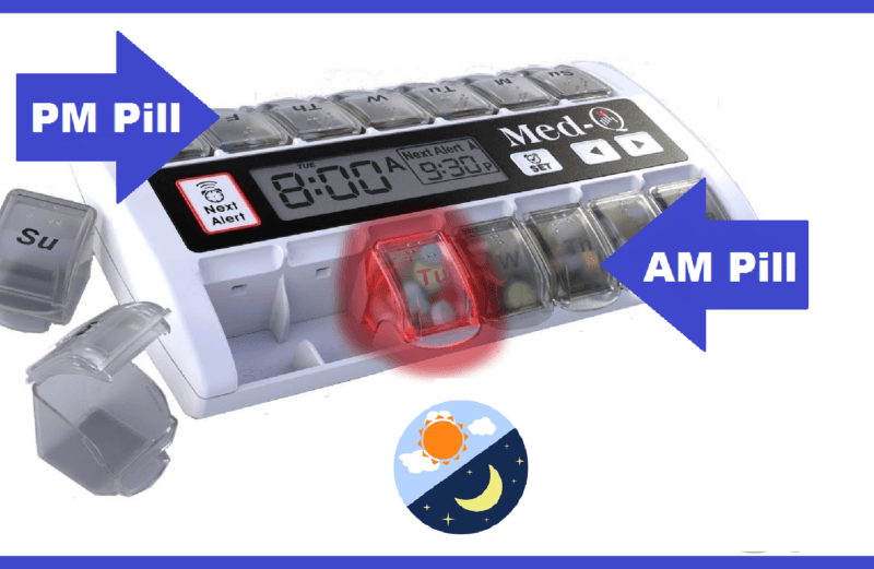 pill dispenser with alarm
