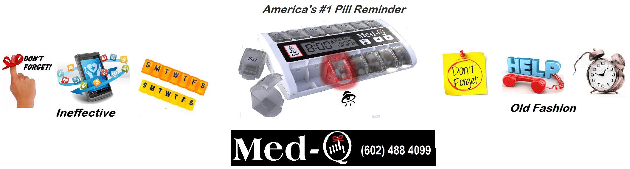 med-q pill reminder alarm system