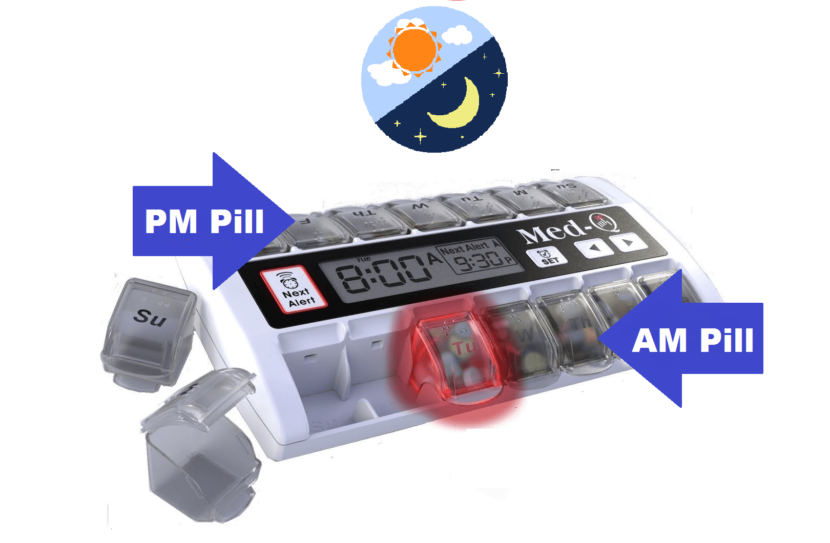 Best Electronic Pill Box With Alarms For Deaf People.
