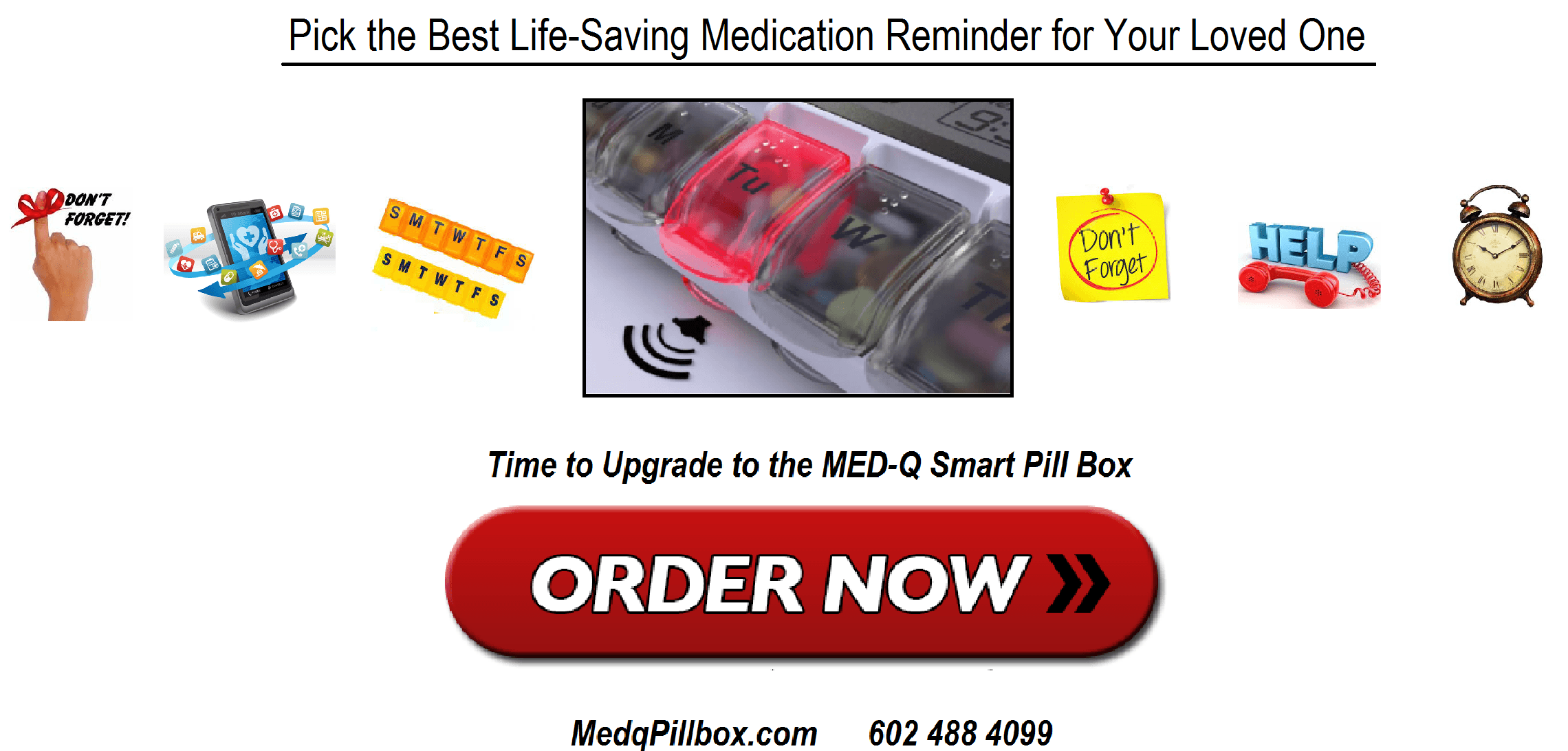 medication box with alarms