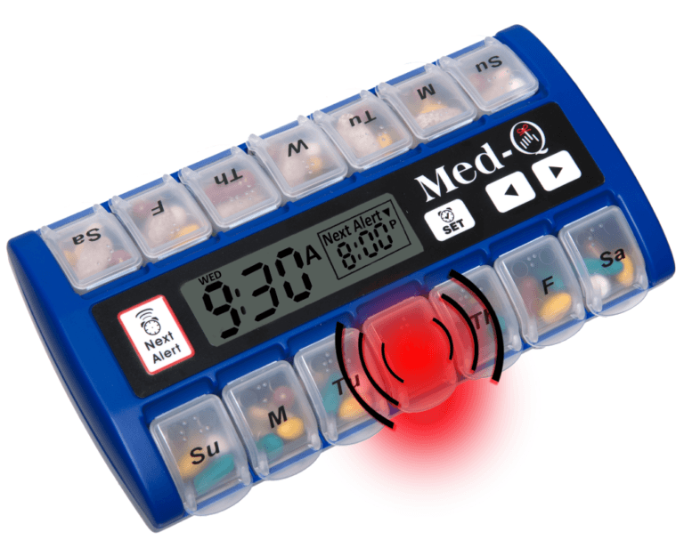 programmable pill box alarm timer