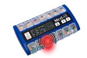 electronic pill box with timer & alalrm