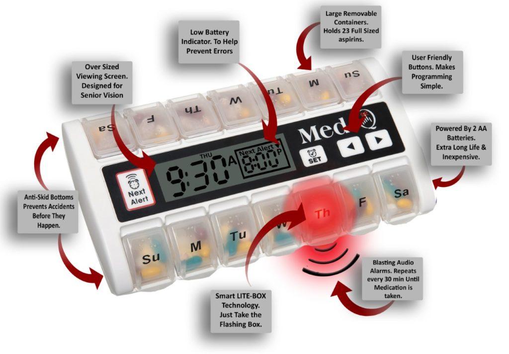 auto pill dispenser with locks