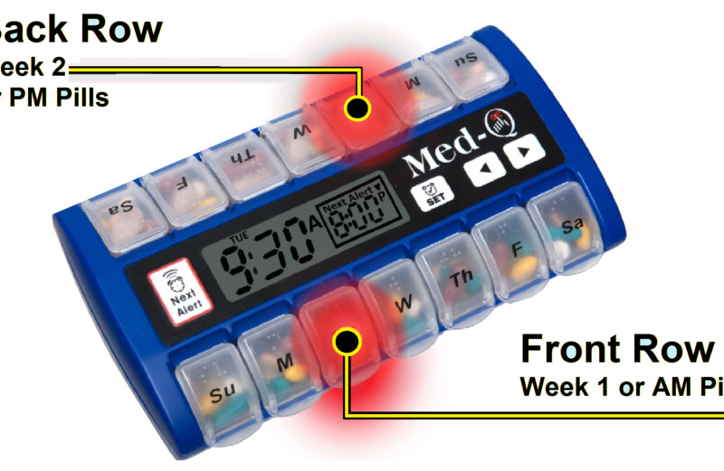 Med-Q Smart Pill Organizer Designed for BP Medication