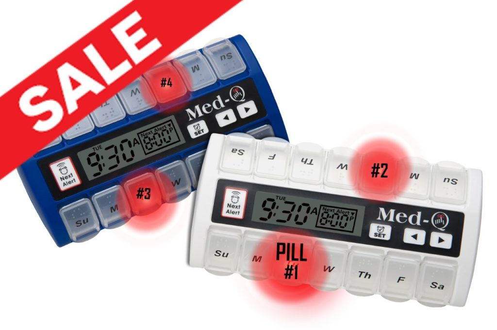 med-q pill dispenser with alarms