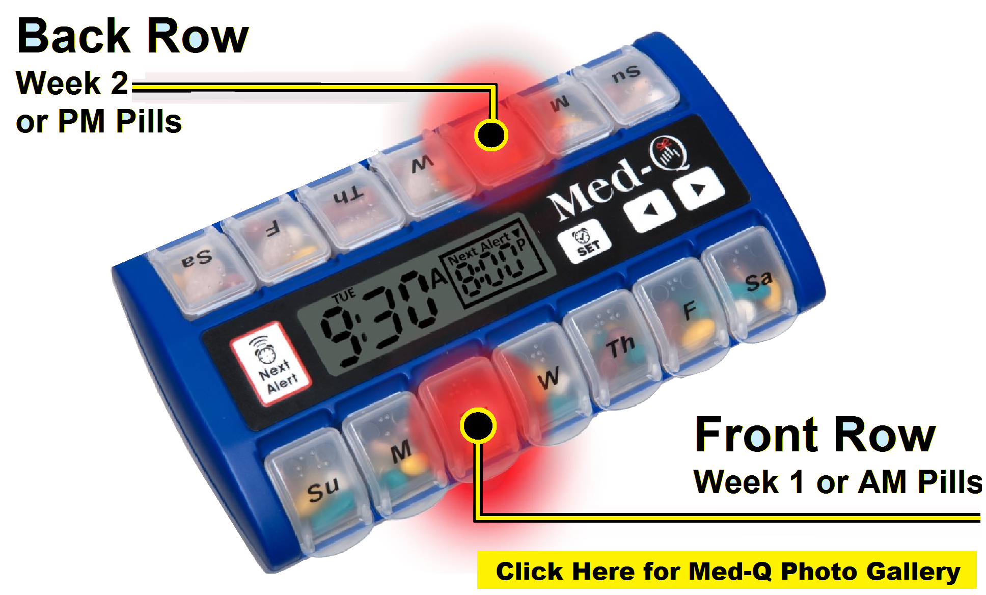 automatic pill box with alarms