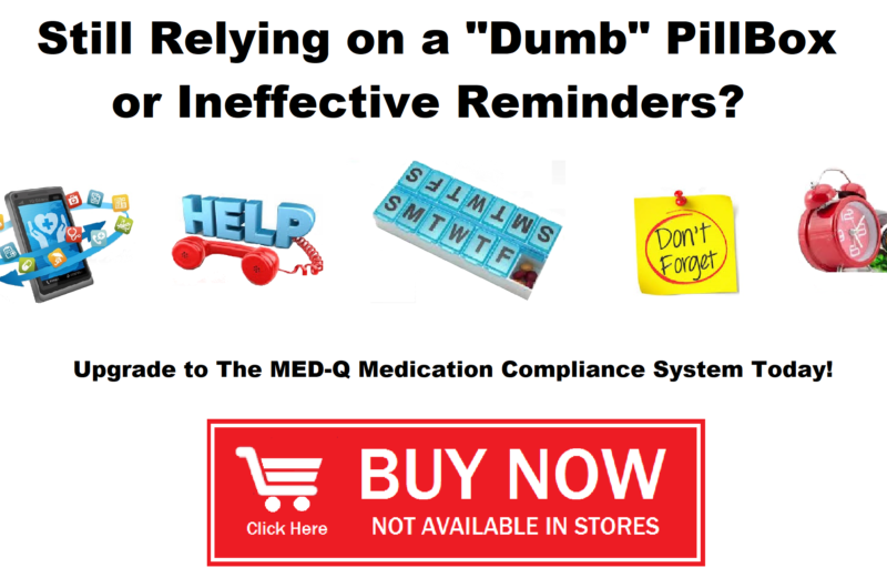 Med-Q Programmable pill box with timer and alarm