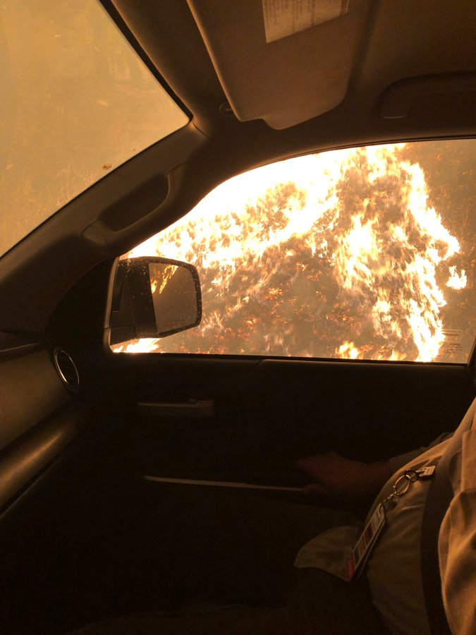 Heroic Nurse Drives Truck Through California Wildfire