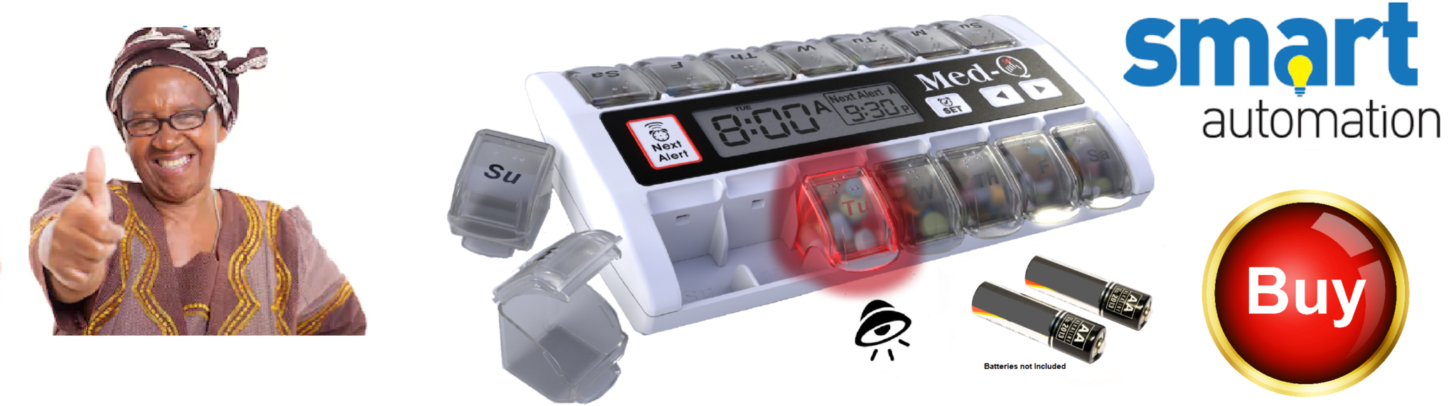 Med-Q pill dispenser for preventing forgetting and over dosing